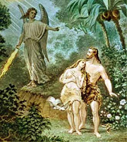 Adam and Even Expelled from the Garden